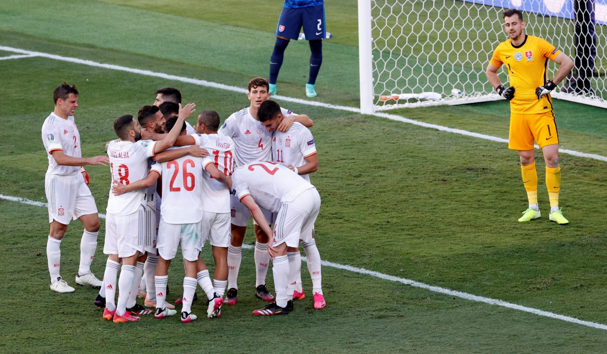 Euro 2020: Spain Beat Slovakia to Join Sweden in Round of 16