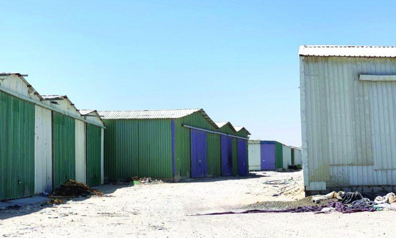 Dangerous warehouses on Dukhan road