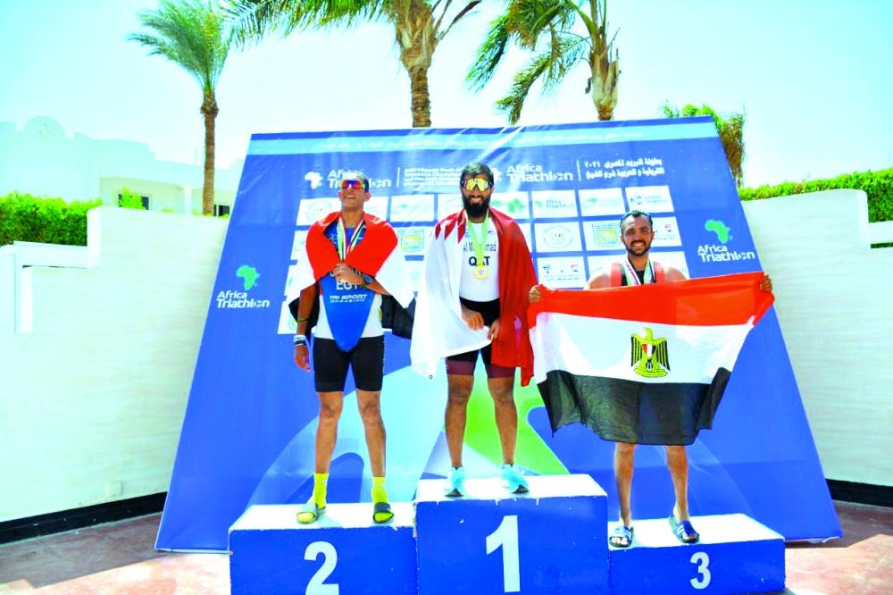 Qatar Triathlon Team Wins Gold, Silver Medals in Arab Championship in Egypt