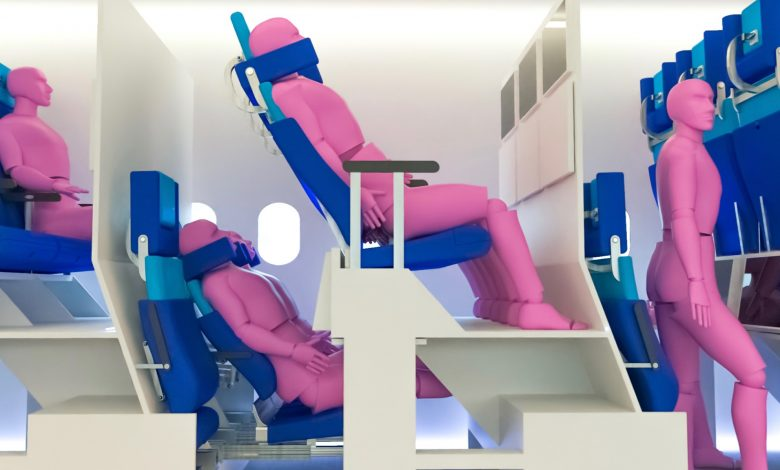 New designs for airline economy class seats