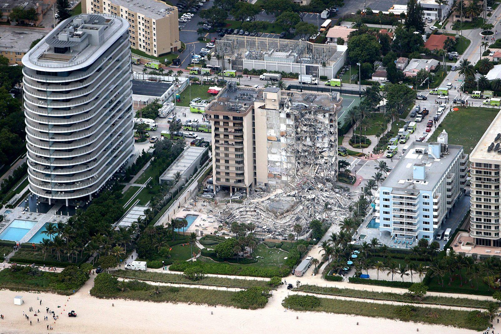 4 dead, 11 hurt, dozens missing in high-rise collapse near Miami Beach