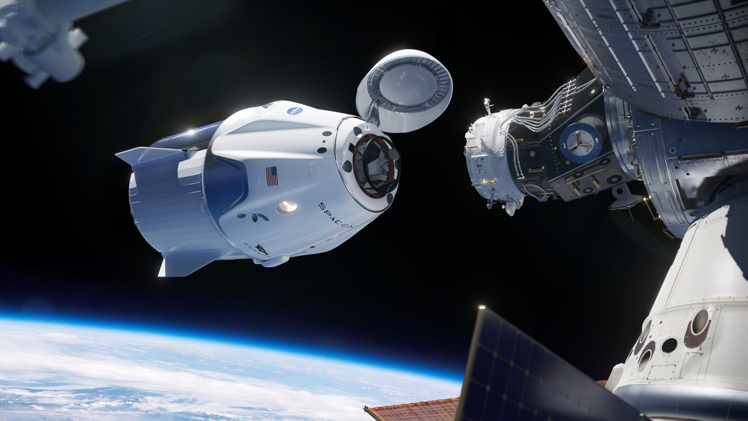 Two SpaceX crew spacecraft are now docked to the space station