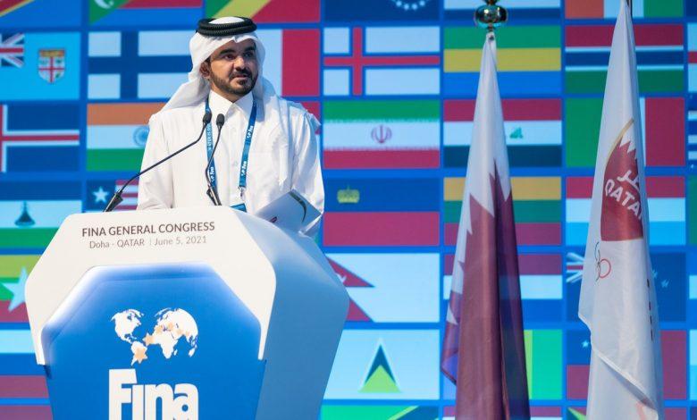 Sheikh Joaan Attends FINA General Congress