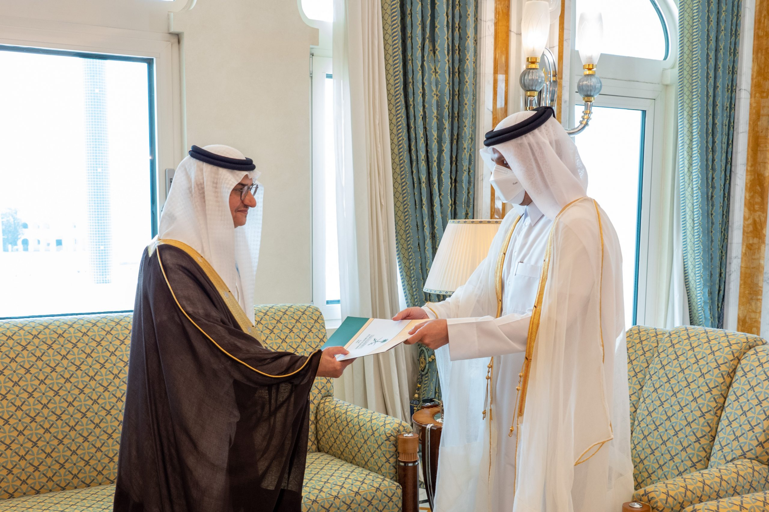 Foreign Minister Receives Copy of Credentials of Saudi Ambassador