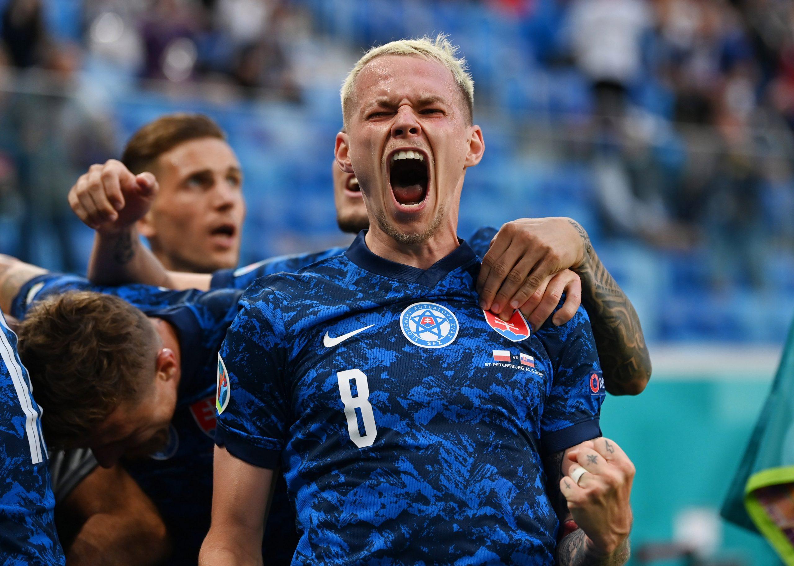 Skriniar steps up, Slovakia beats Poland 2-1 at Euro 2020