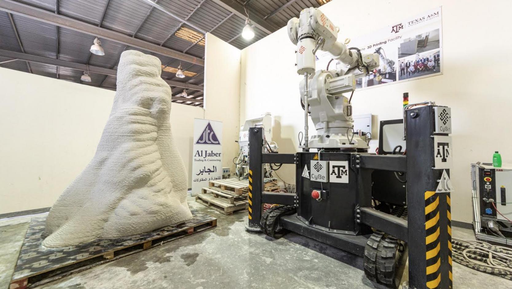 Qatar's first concrete 3D sculpture printed in a few minutes