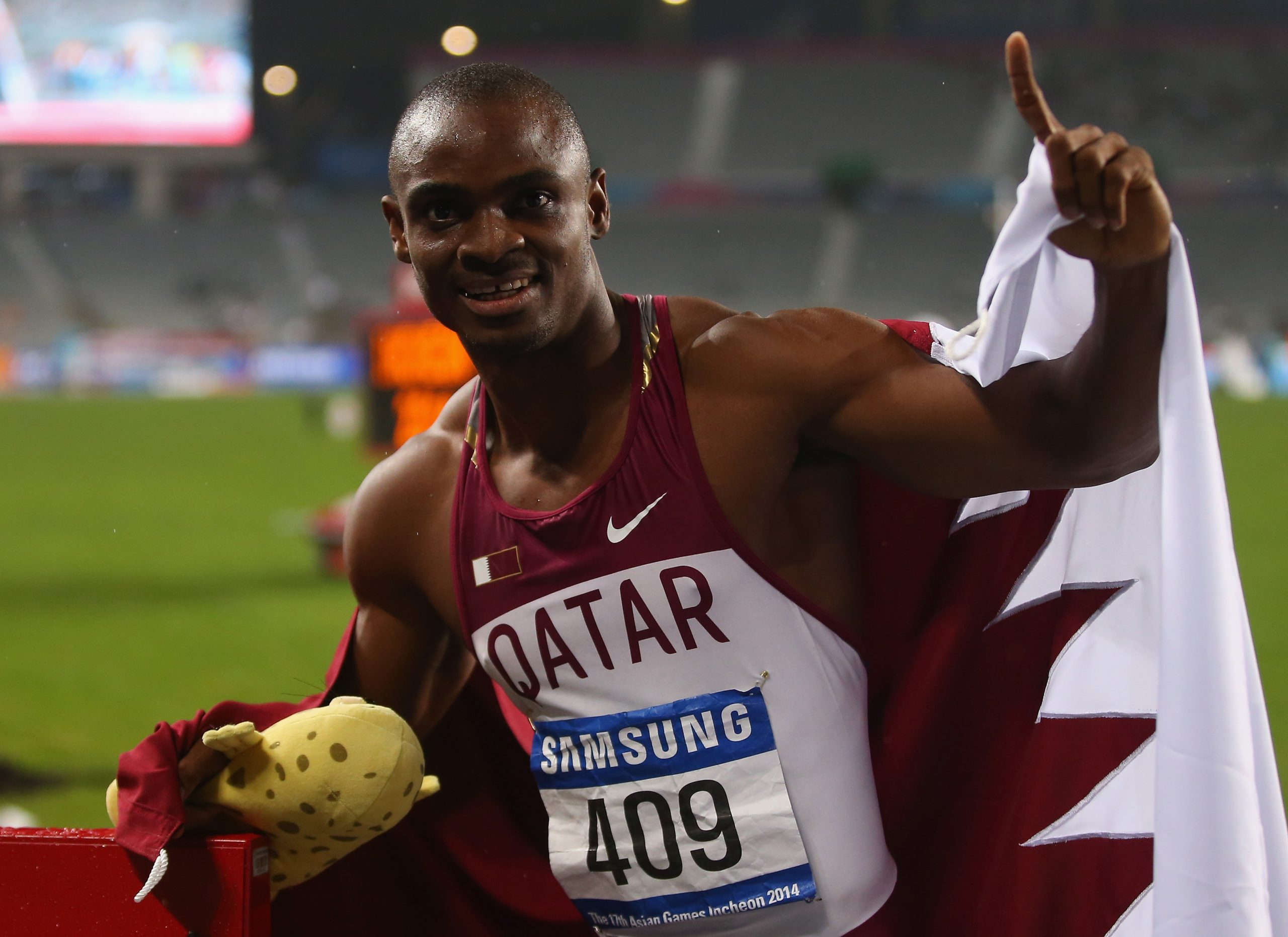 Qatar's Ogunode Wins 100m Race in Arab Athletics Championships