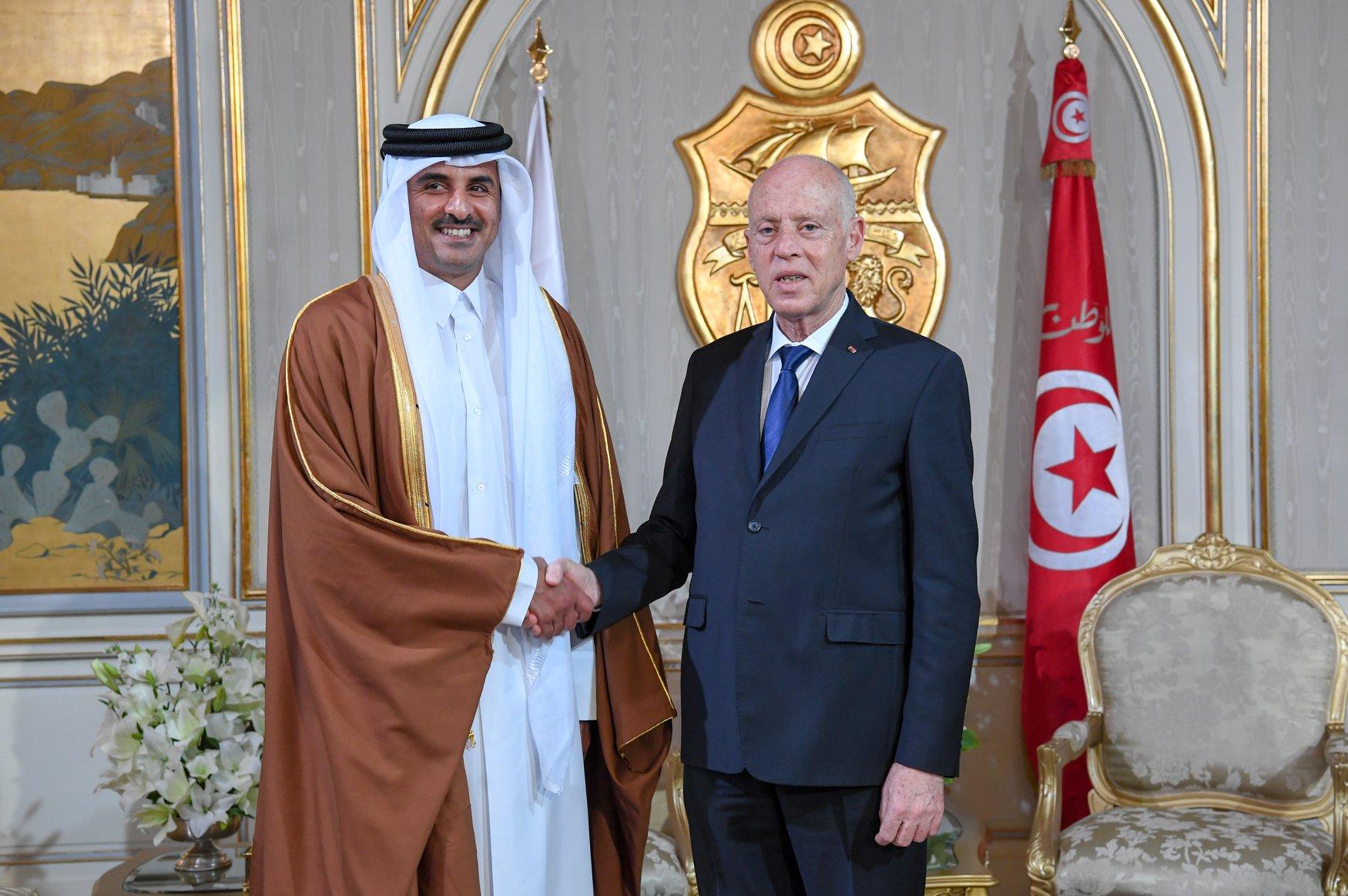 Amir Holds Phone Call with Tunisian President