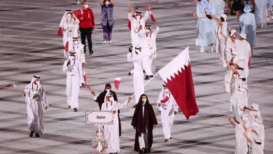 Abujbara, Al Rumaihi Raise Qatar's Flag during Opening Ceremony of Tokyo Olympics