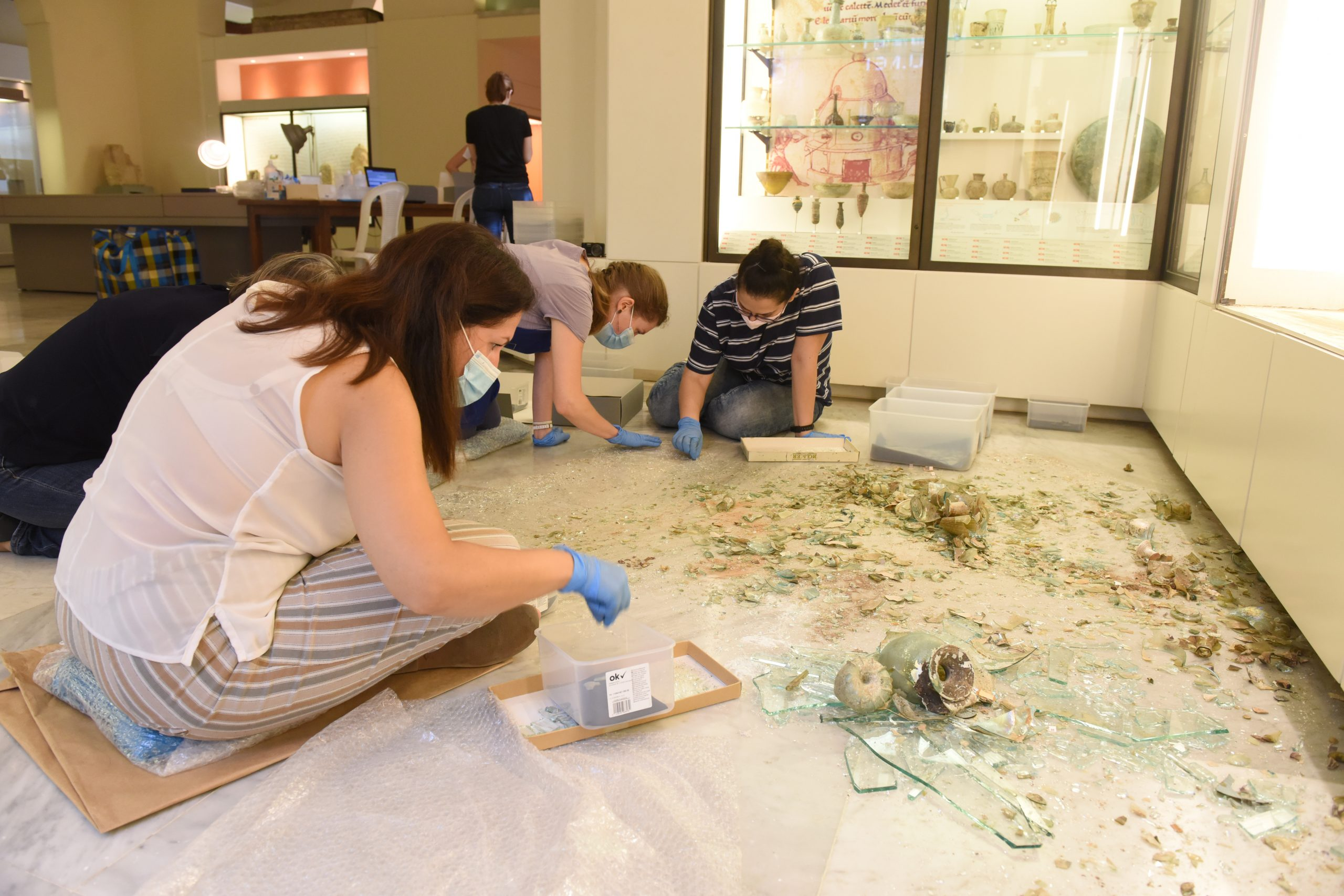 The British Museum restores ancient vessels destroyed by the Beirut Port explosion