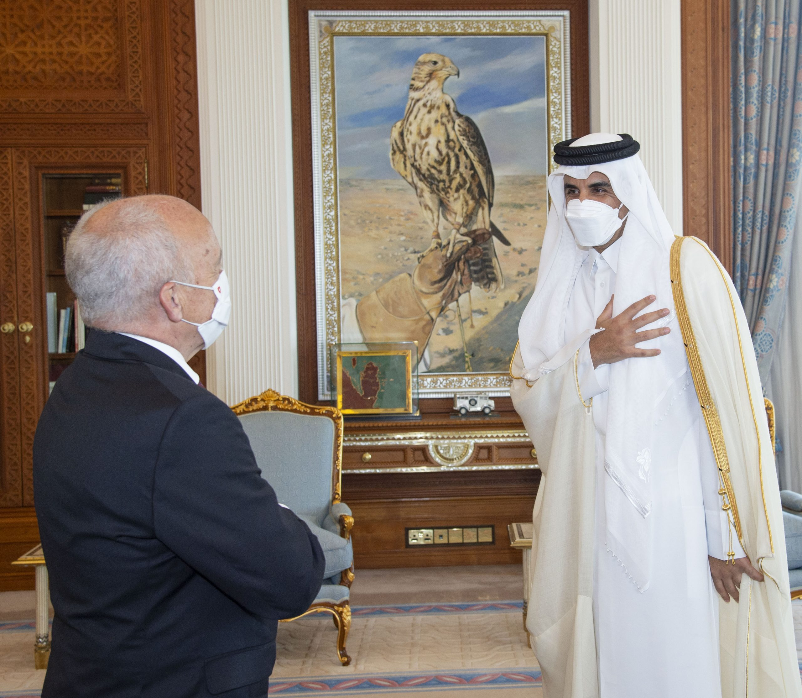 Amir Meets Head of Federal Department of Finance of Swiss Confederation