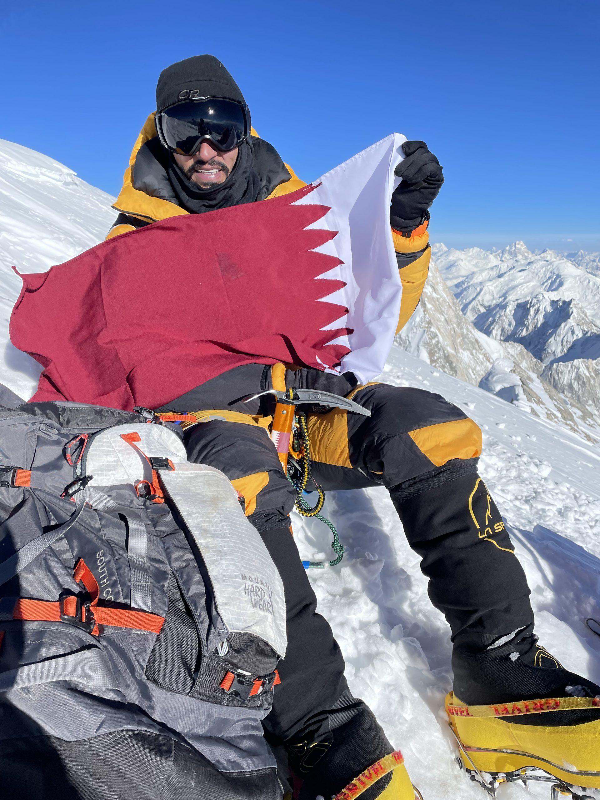 Qatari adventurer succeeds in raising Qatari flag over the world's 12th highest peak