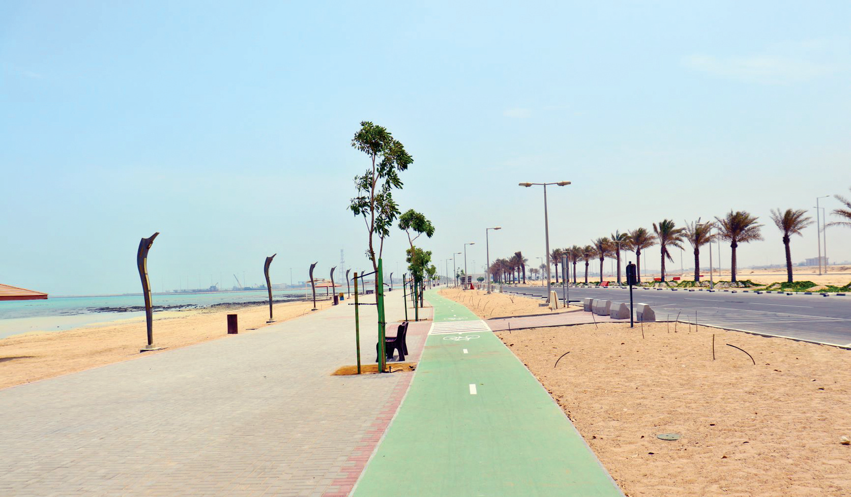 85% of development work completed in Al-Shamal Beach project
