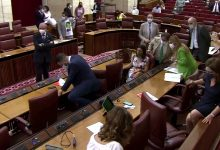 A rat storms a parliament session in Spain