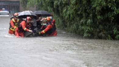 Thousands evacuated from floods in China