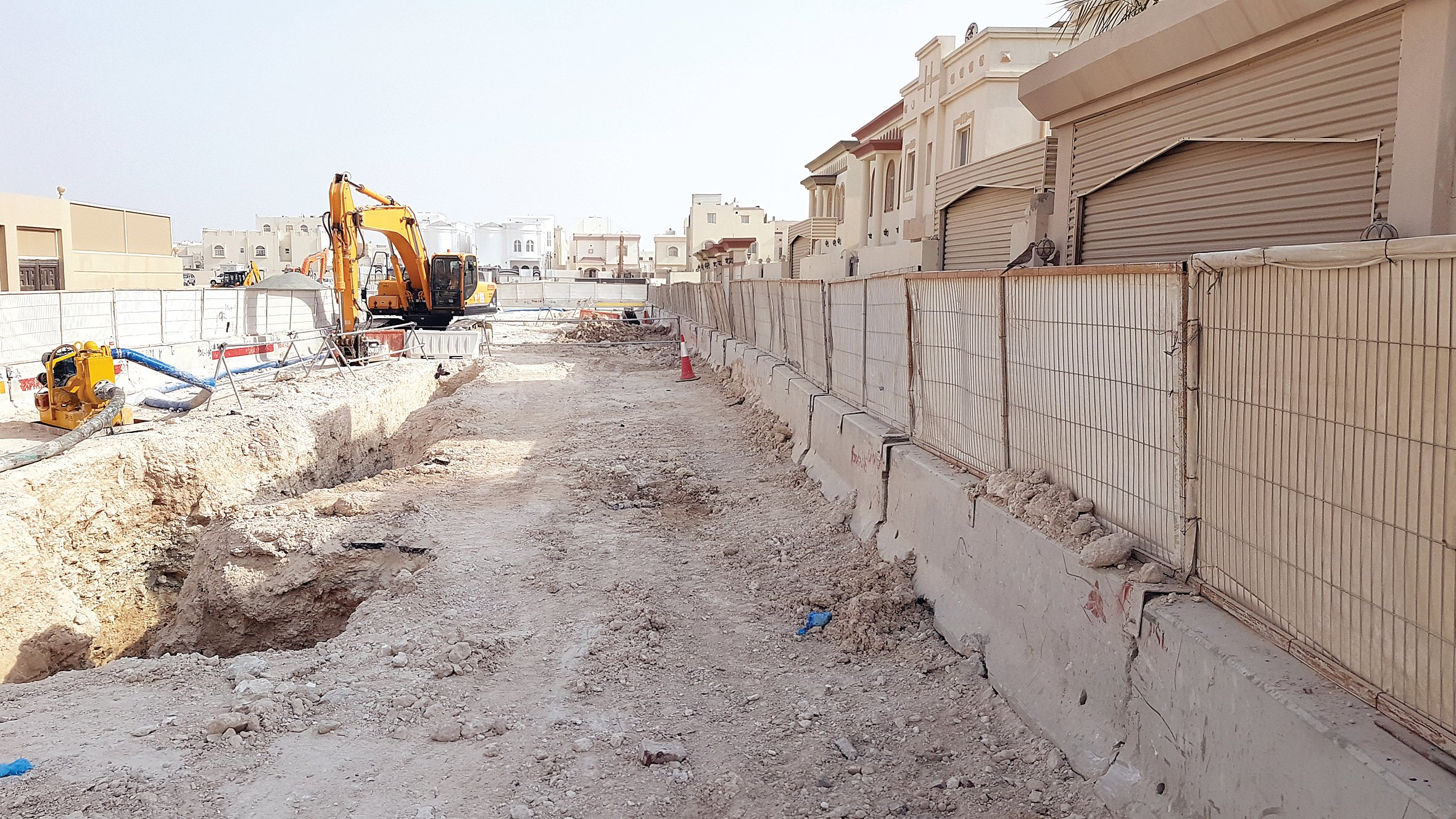 Infrastructure works are disturbing the residents of Al Meshaf streets