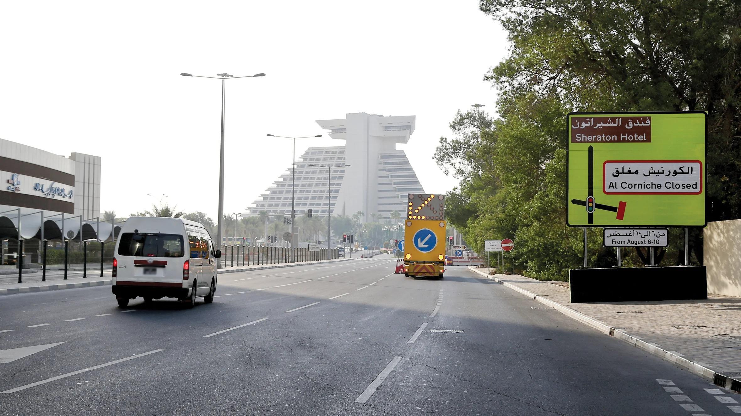 Alternative corniche roads accommodate traffic