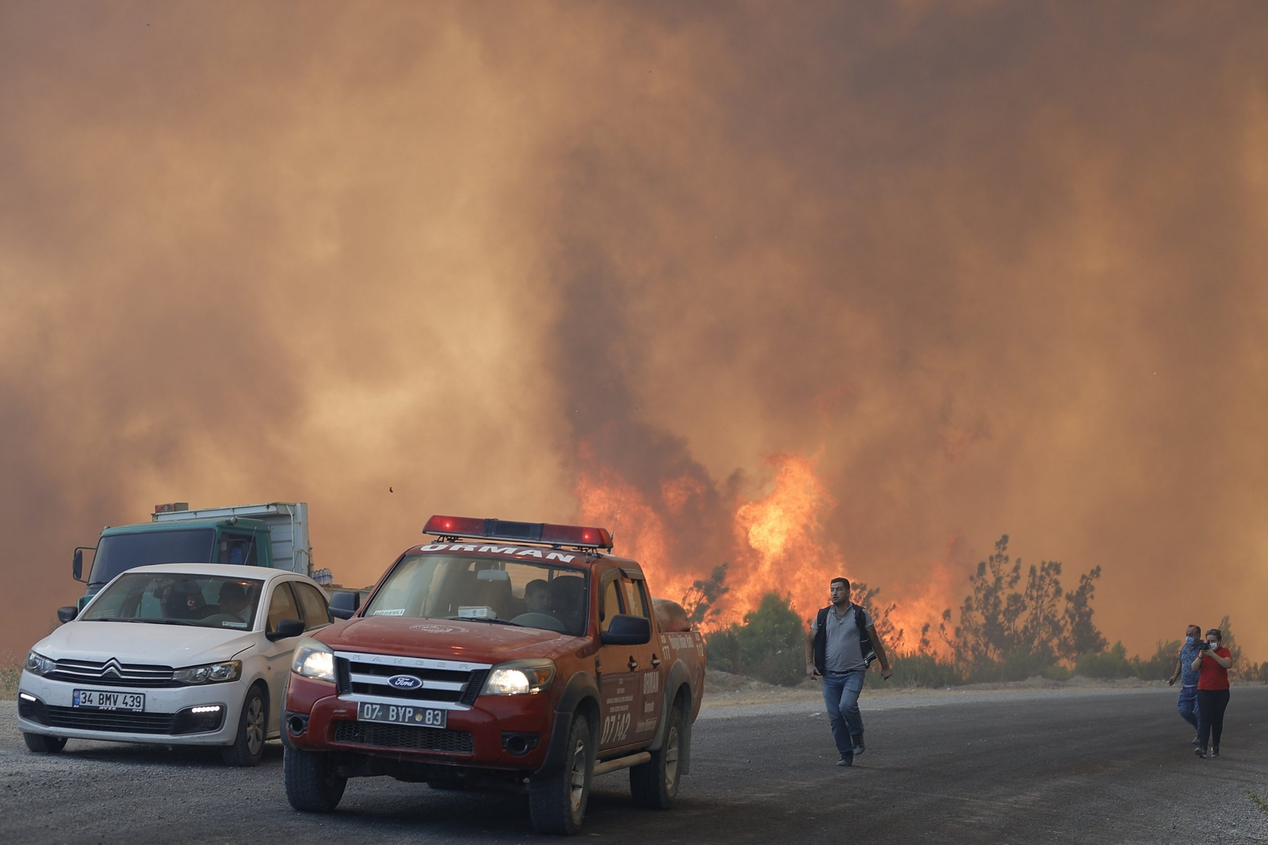Turkey Announces Control Over 107 Fires out of 112