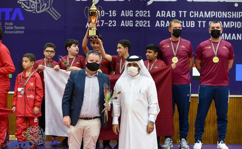 Qatar Wins Gold in Arab Table Tennis Championship for Junior Category