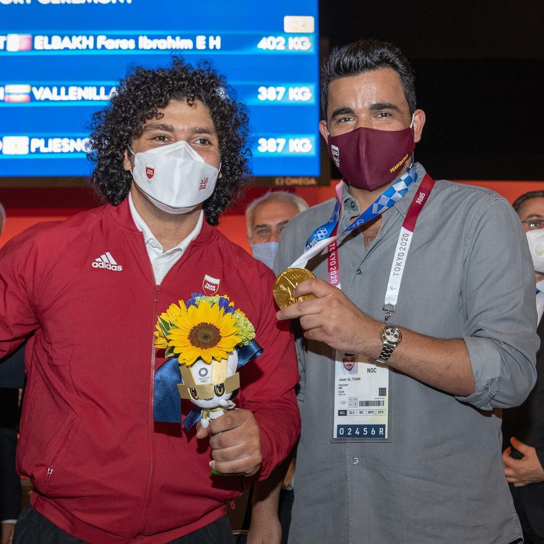 Sheikh Joaan Praises Fares Ibrahim's Accomplishment of Qatar's First Olympic Gold Medal