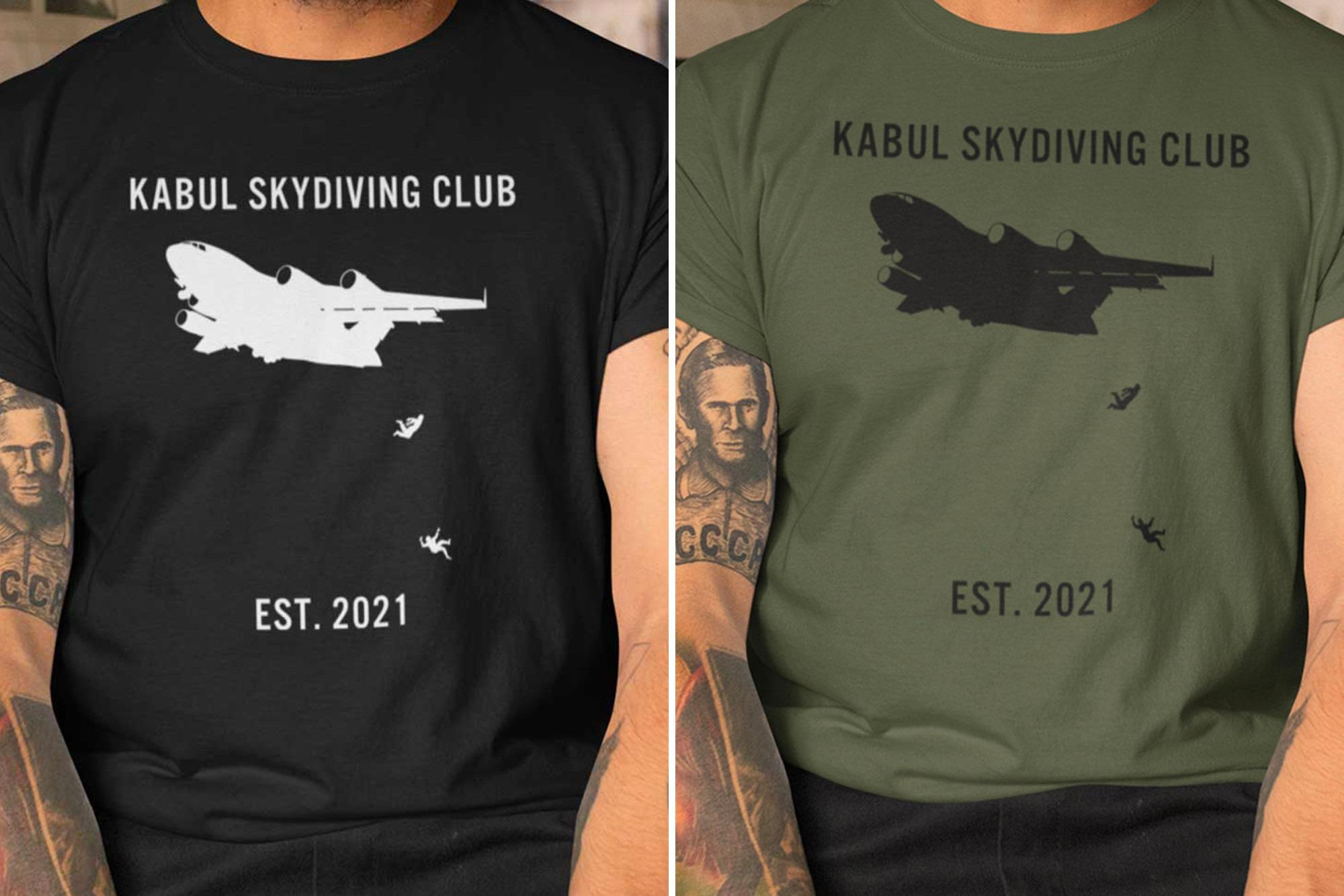 """Kabul Skydiving Club"", U.S. shirt mocks Afghan victims"