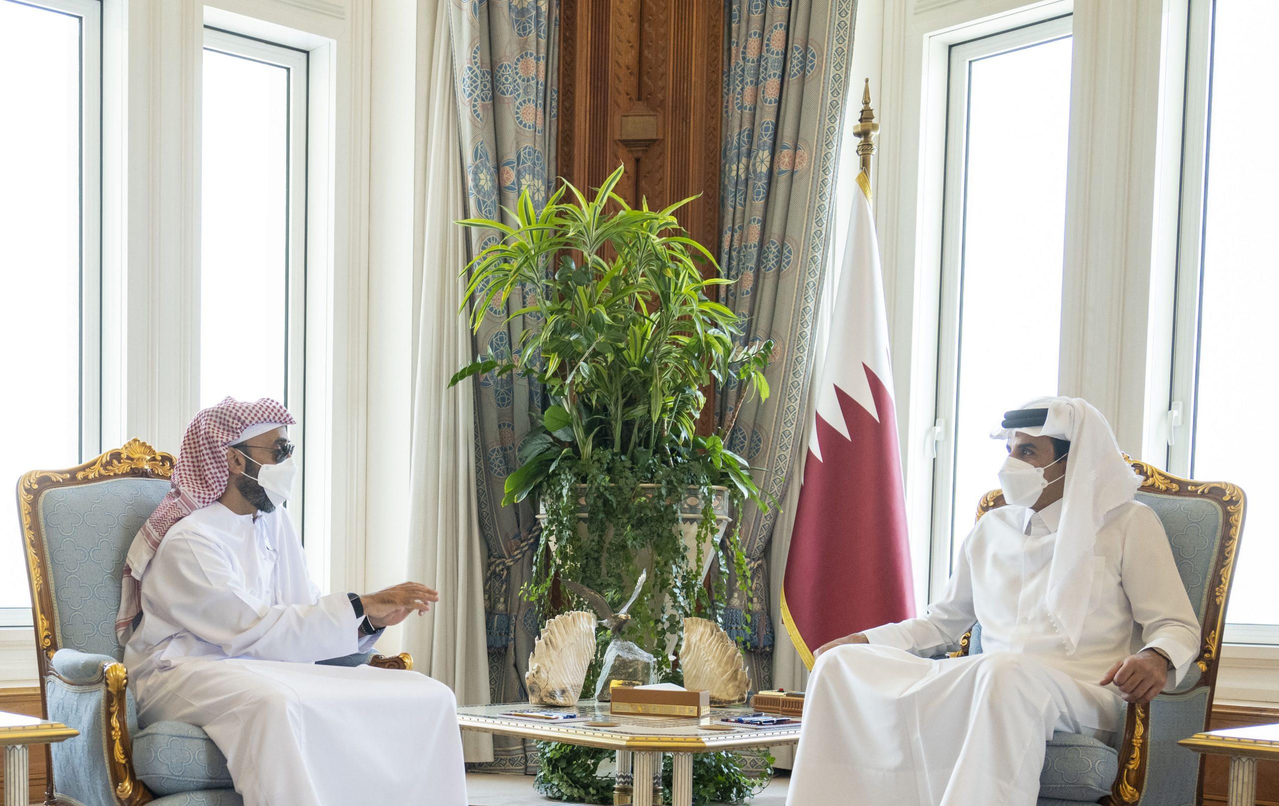 Amir Meets UAE National Security Advisor