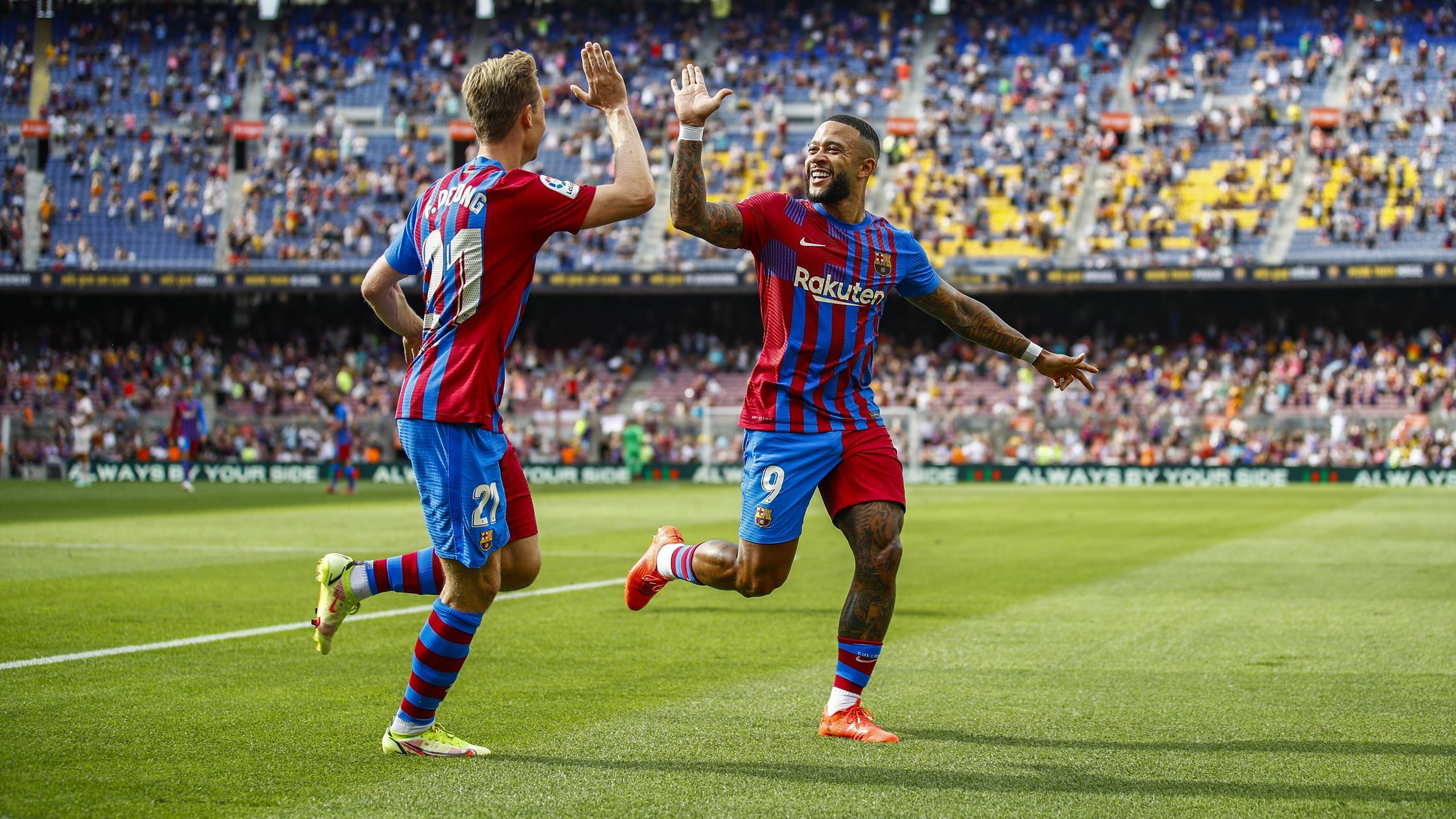Depay on target in narrow Barca win over Getafe