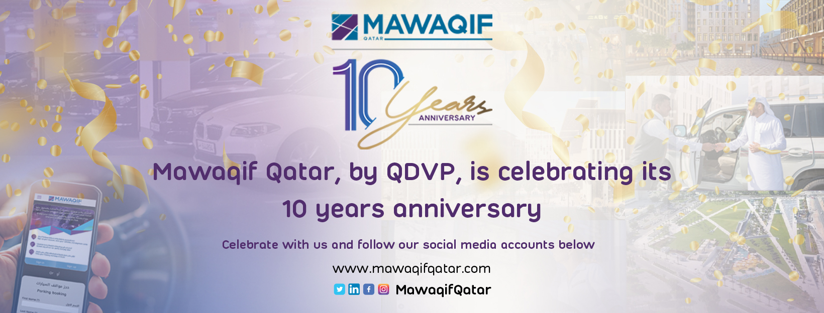 Mawaqif Qatar: Join us on our 10th anniversary celebration and receive a mystery gift!