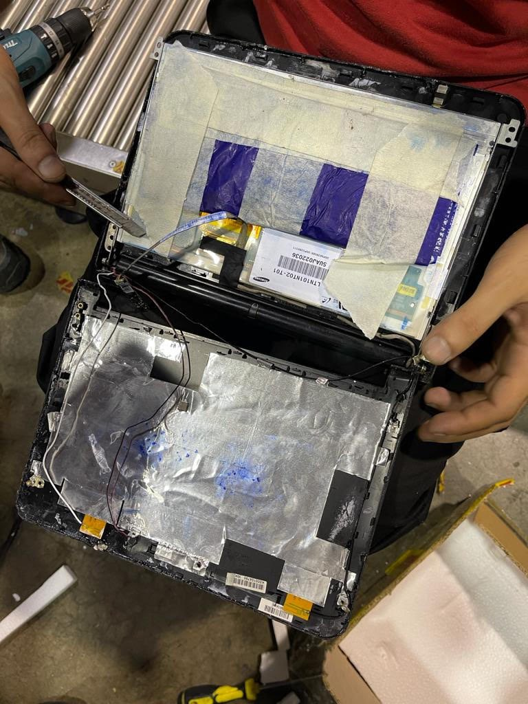 Customs thwarts attempt to smuggle narcotics hidden inside laptop