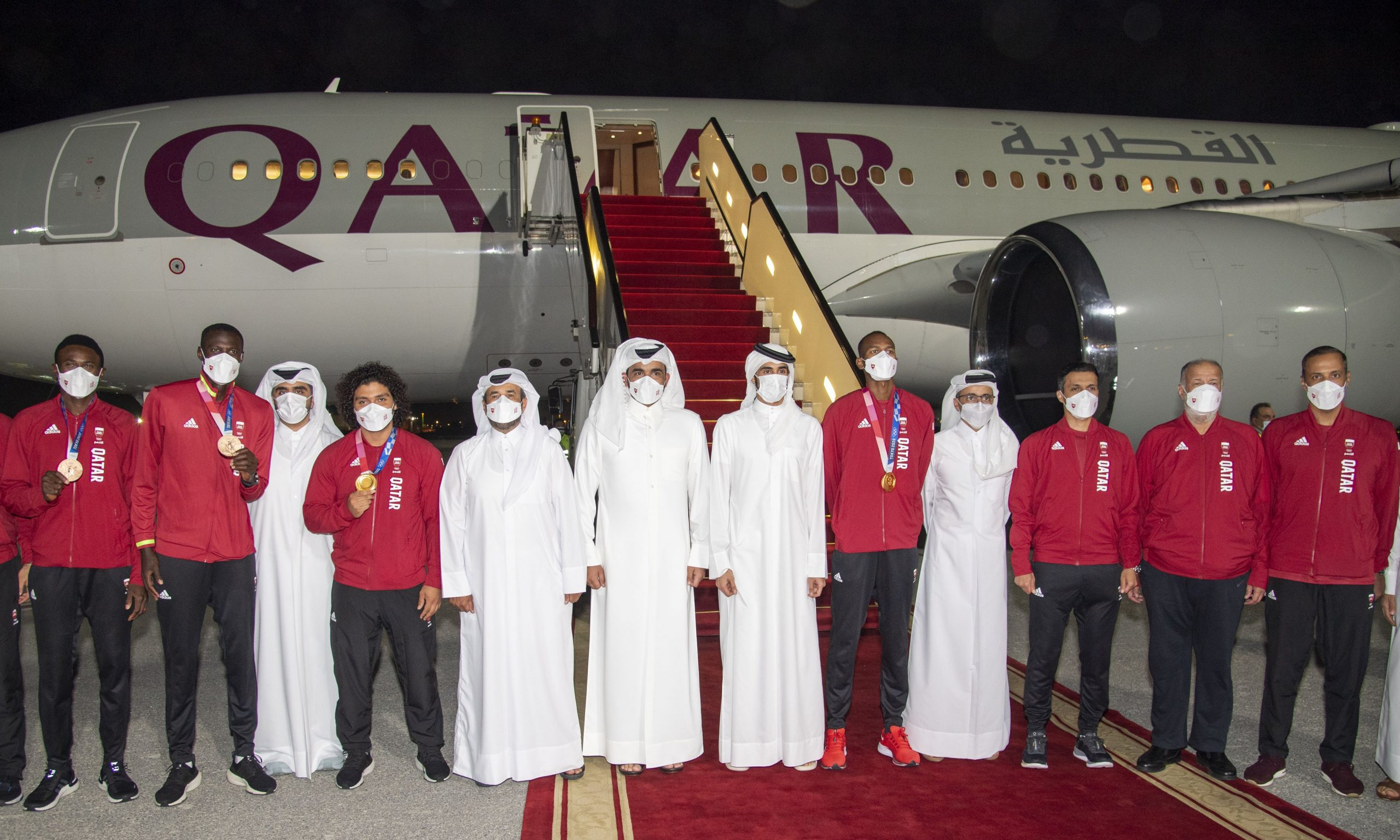 HH Personal Representative of HH the Amir Welcome Champions of Tokyo Olympics