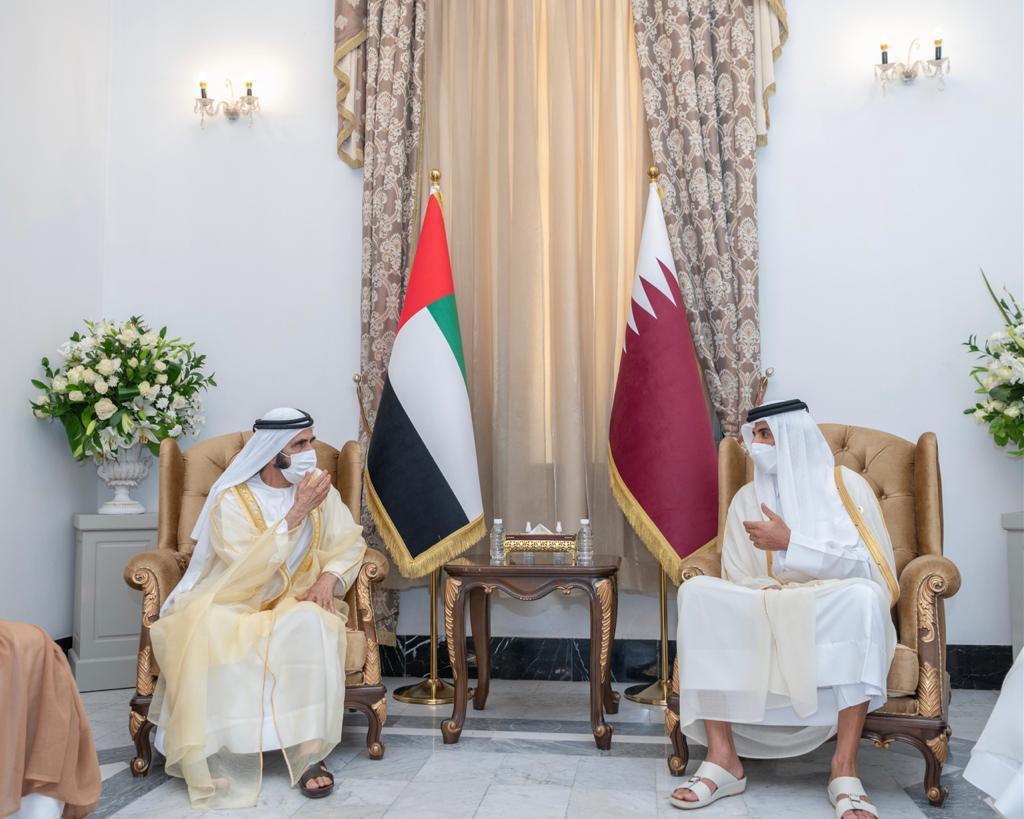 Amir Meets UAE Vice President