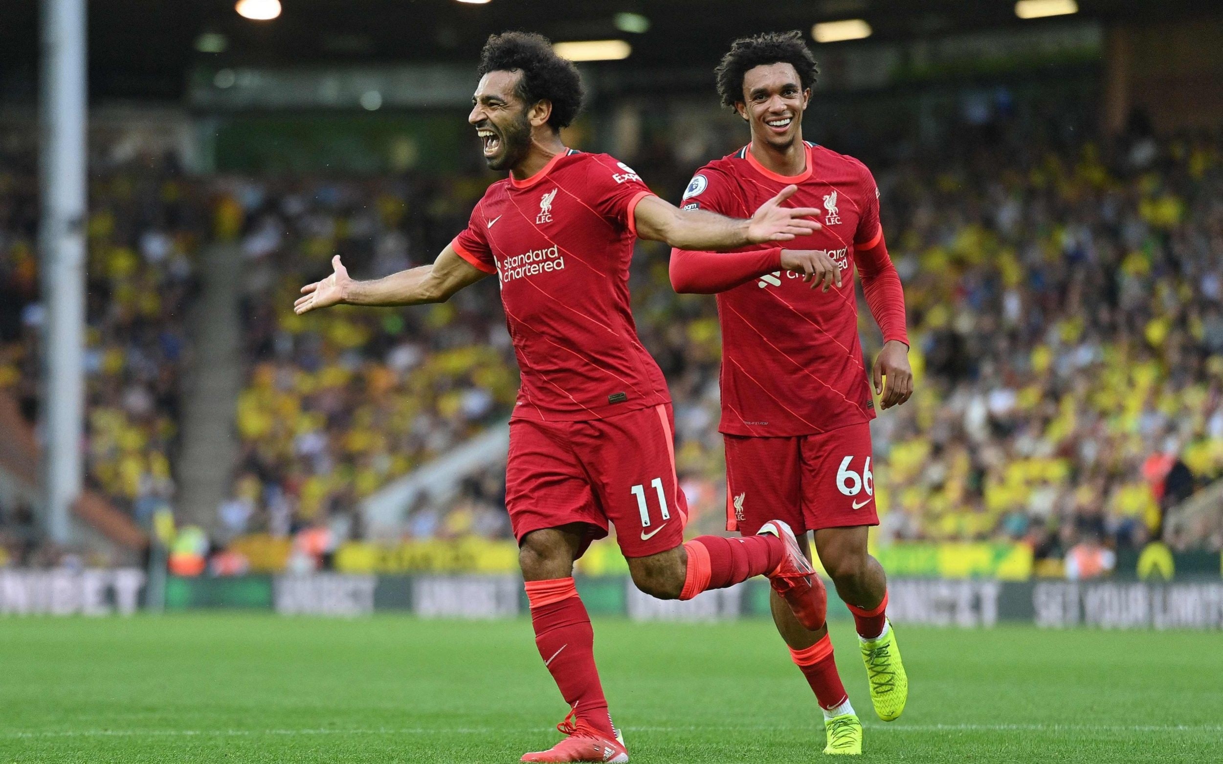 Liverpool cruise past Norwich in opener