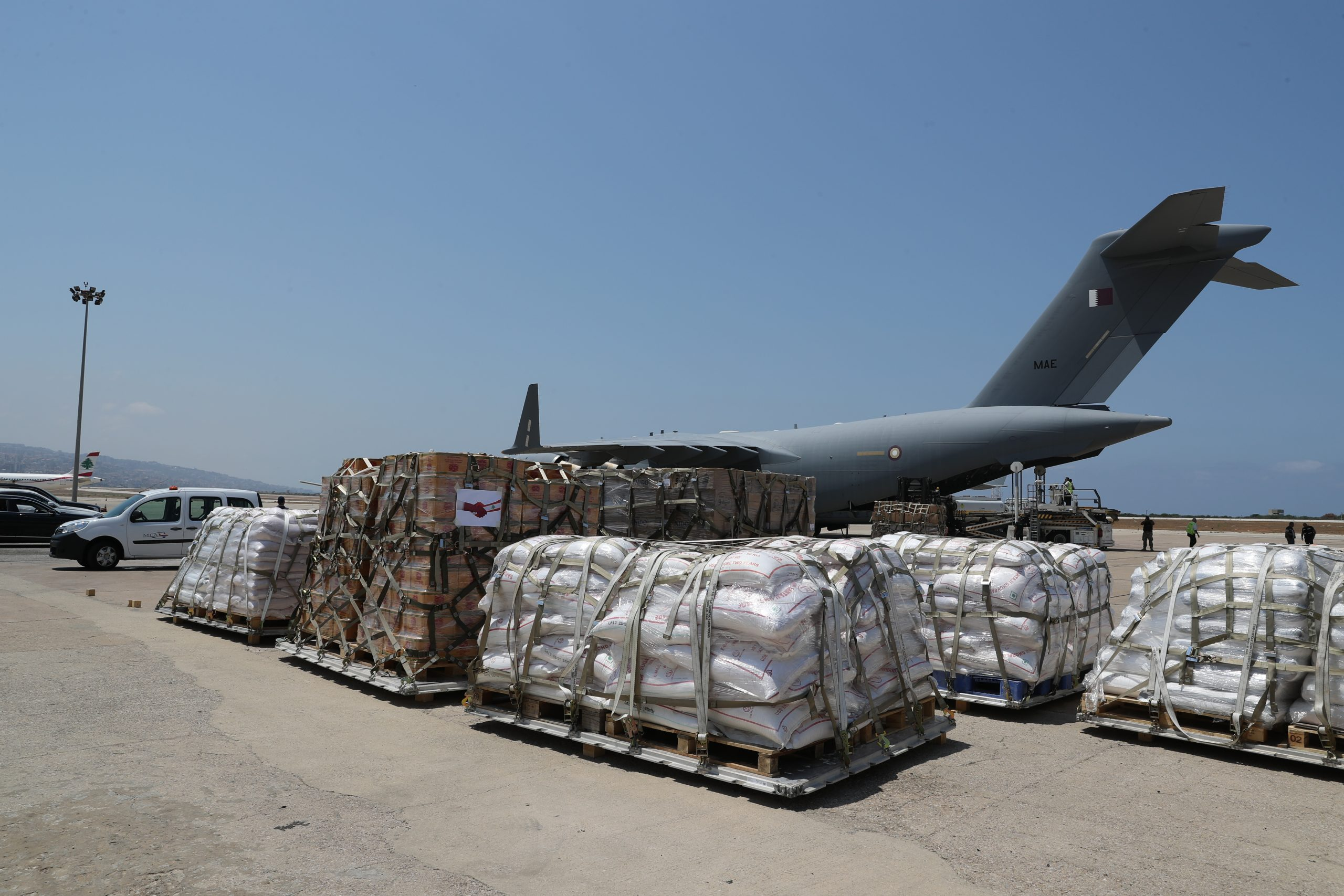 Second Shipment of Qatari Food Aid for Lebanese Army Arrives in Beirut