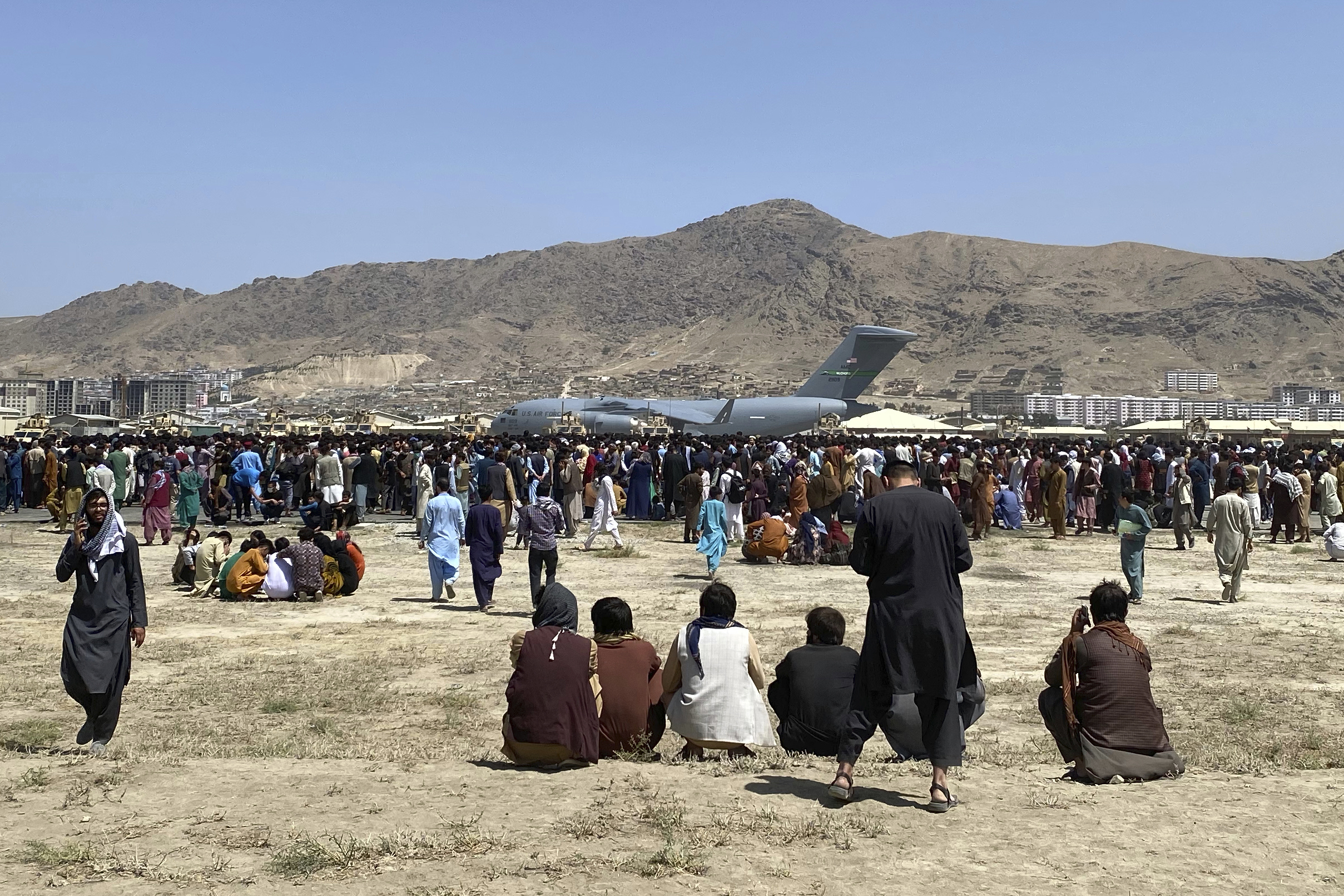 A rumor that killed Afghans in Kabul in a stampede or falling out of the plane. What's the story?