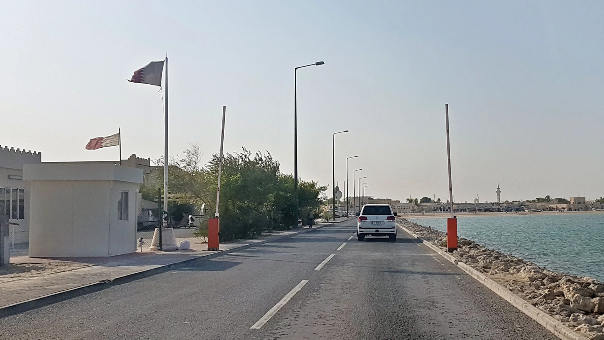 Preventing hikers from entering Al-Wakrah terminal