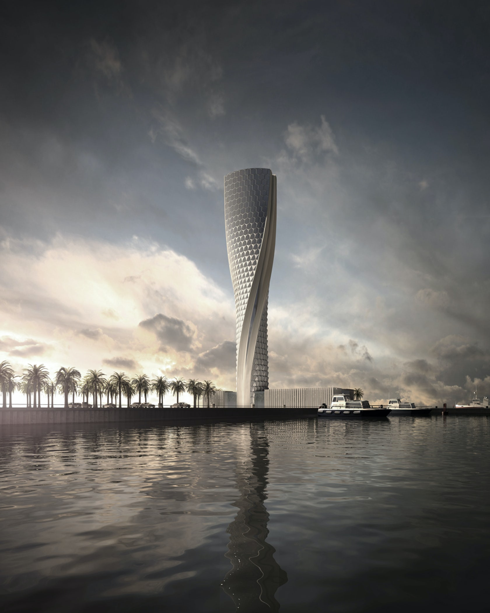 Control tower at Hamad Port, one of the highest in the world