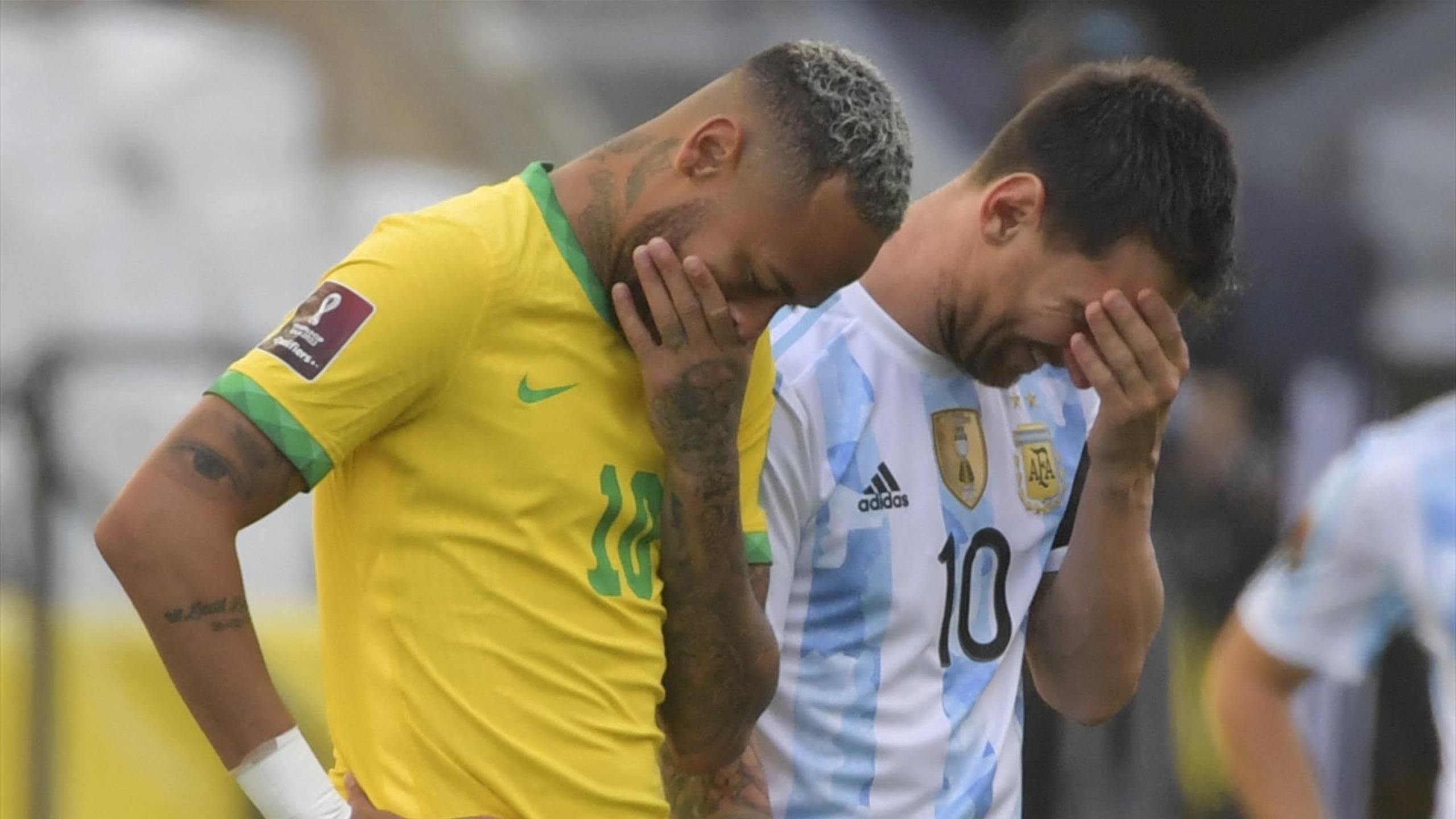 Brazil v Argentina halted after health officials intervene over isolation order