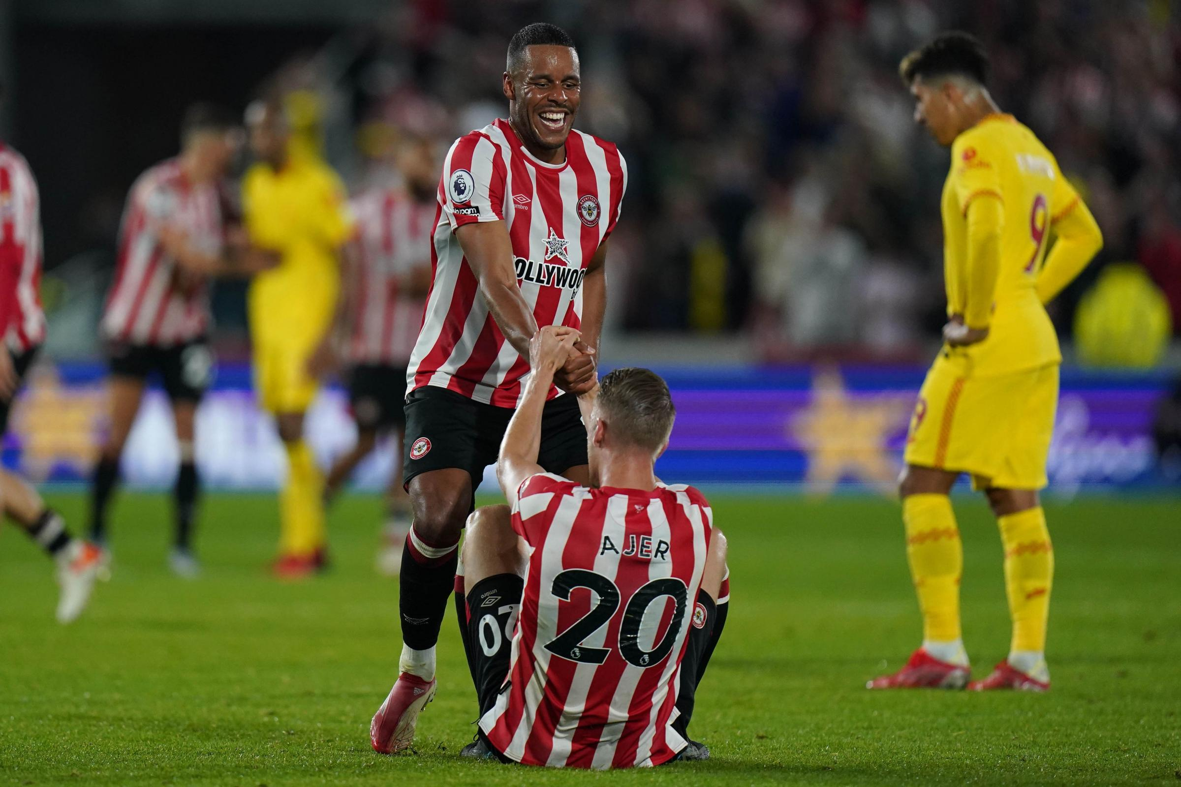 Liverpool held to 3-3 draw by battling Brentford