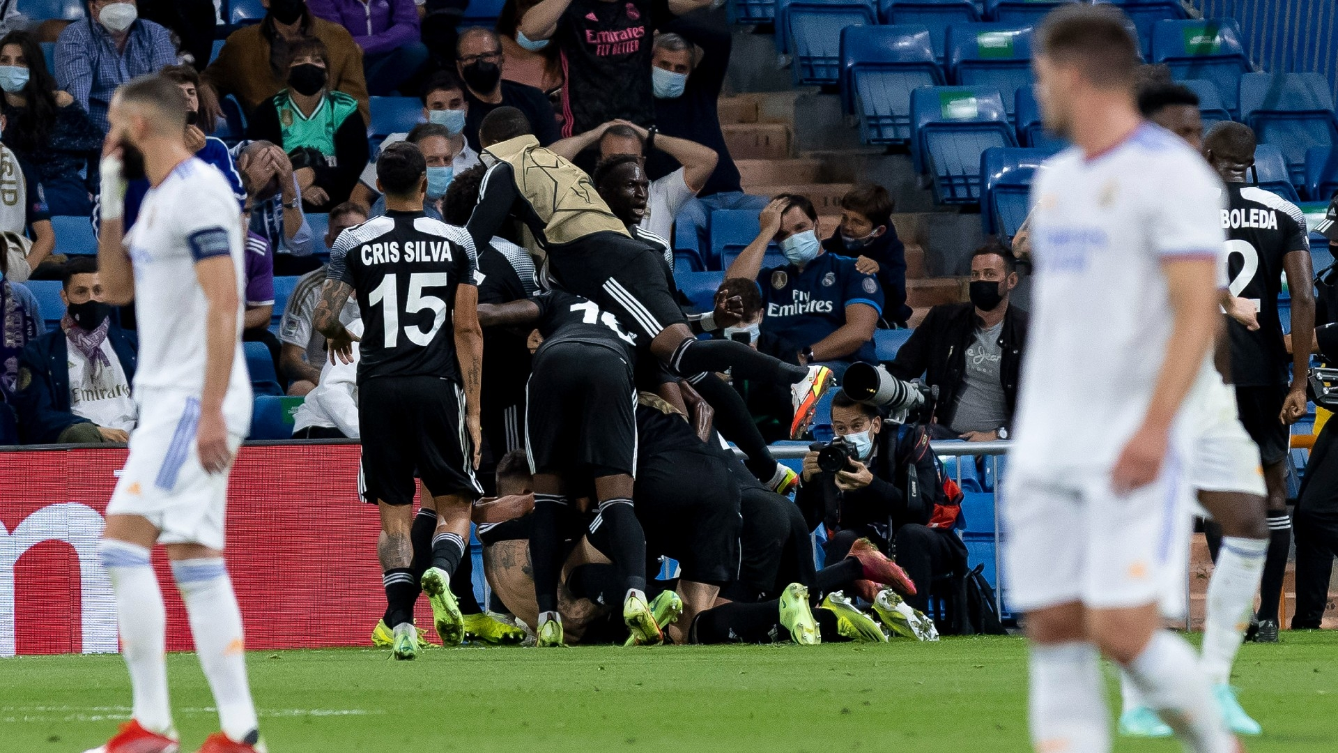 Real Madrid stunned in 2-1 home defeat by Moldovans Sheriff