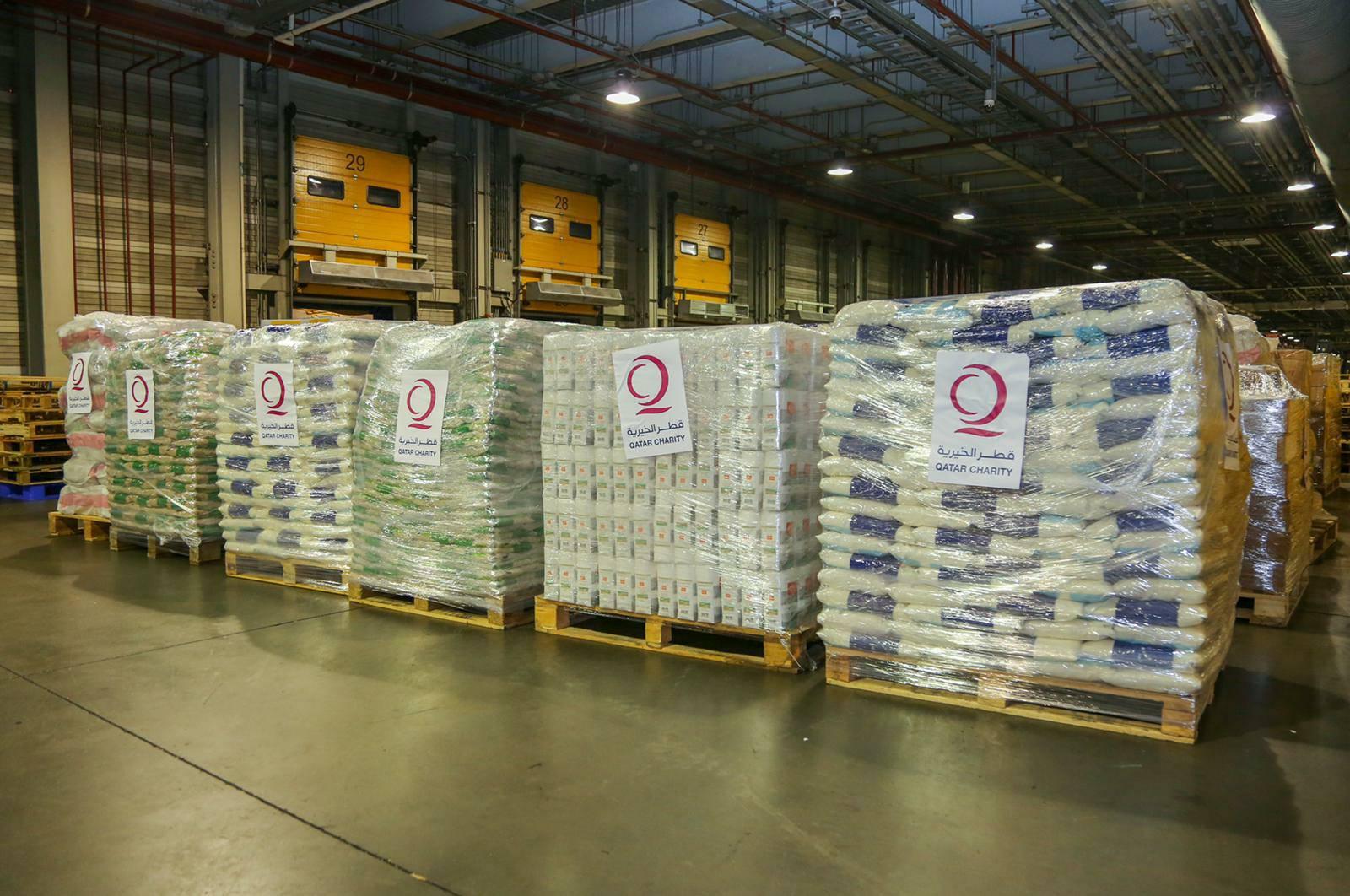 Qatari Plane Carrying Humanitarian Aid Arrives at Kabul International Airport
