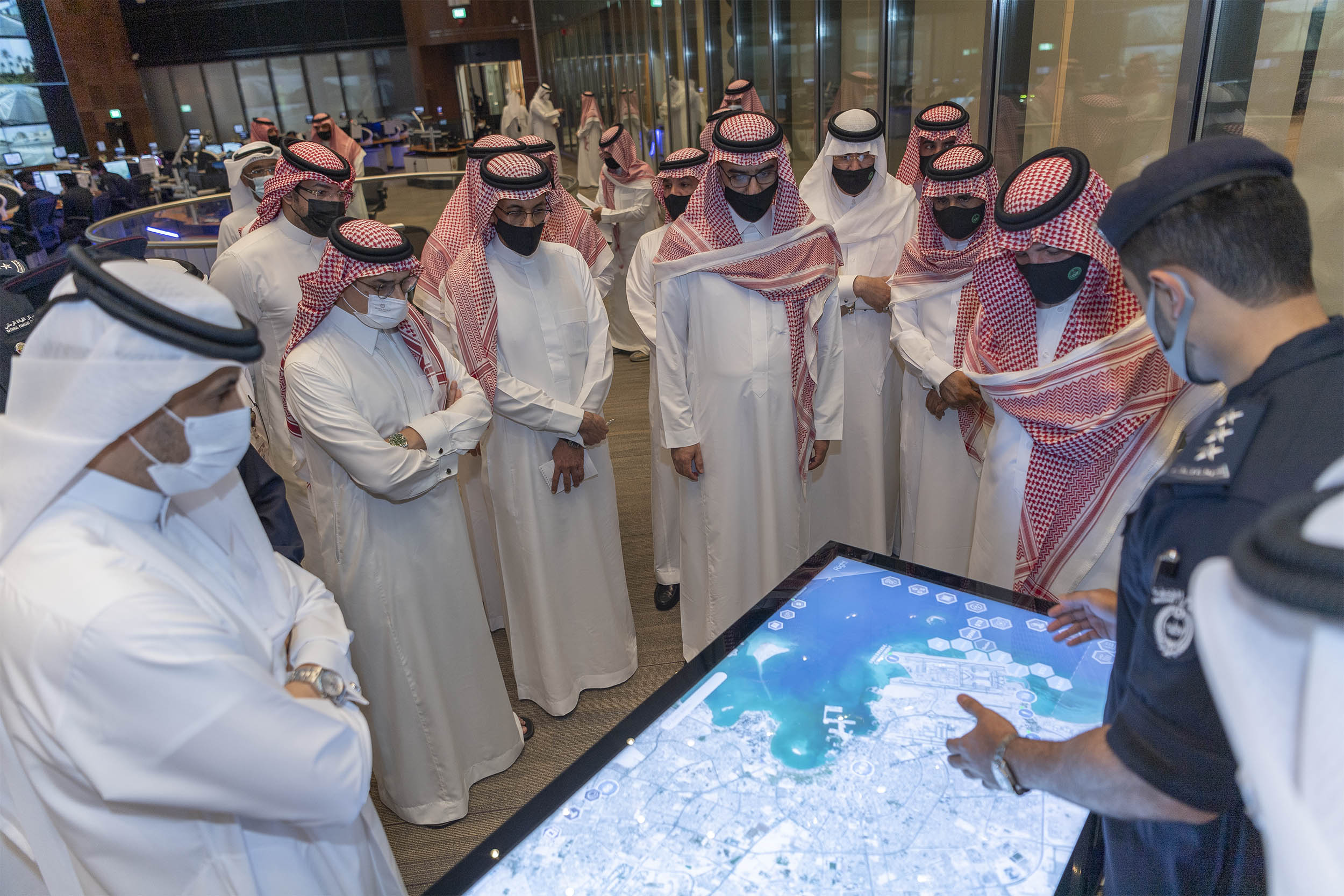 Saudi Minister of Interior Visit National Command Centre