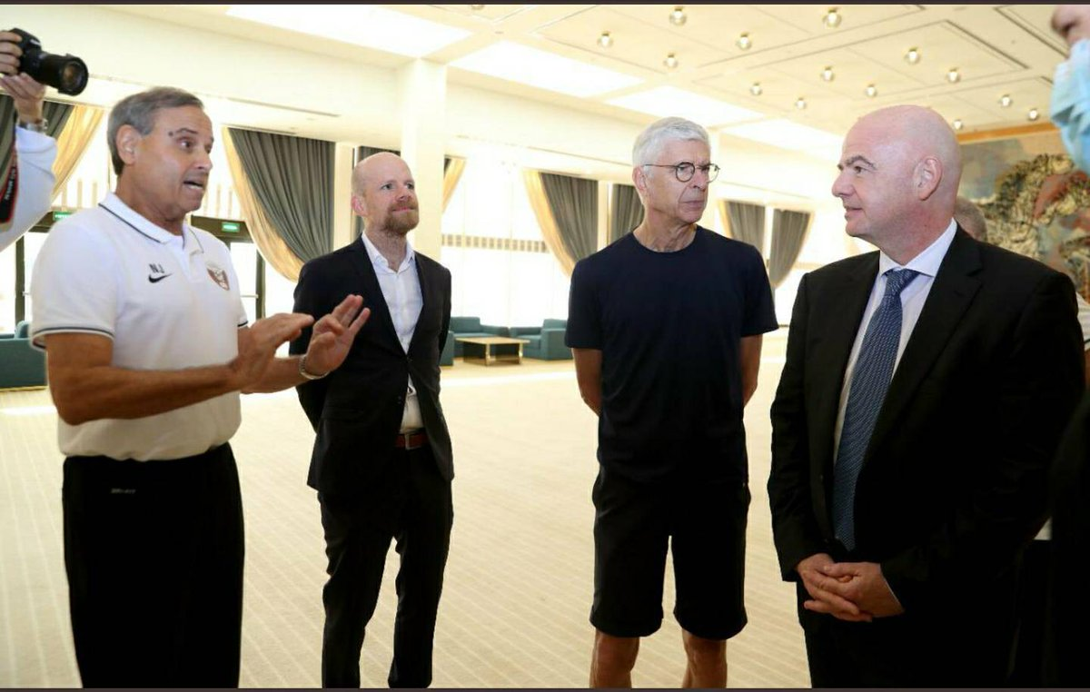 FIFA President Visits Elite Referees Camp in Doha