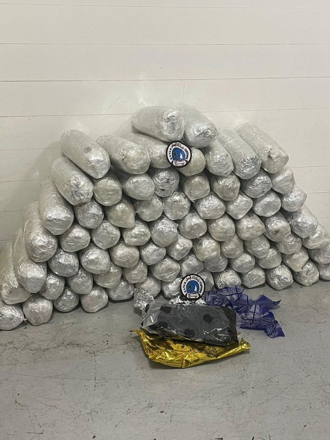 Customs thwarts attempt to smuggle 76 kg  of hashish hidden in fuel tank
