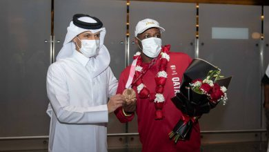 QOC Secretary General Receives Qatari Paralympic Delegation Returning from Tokyo