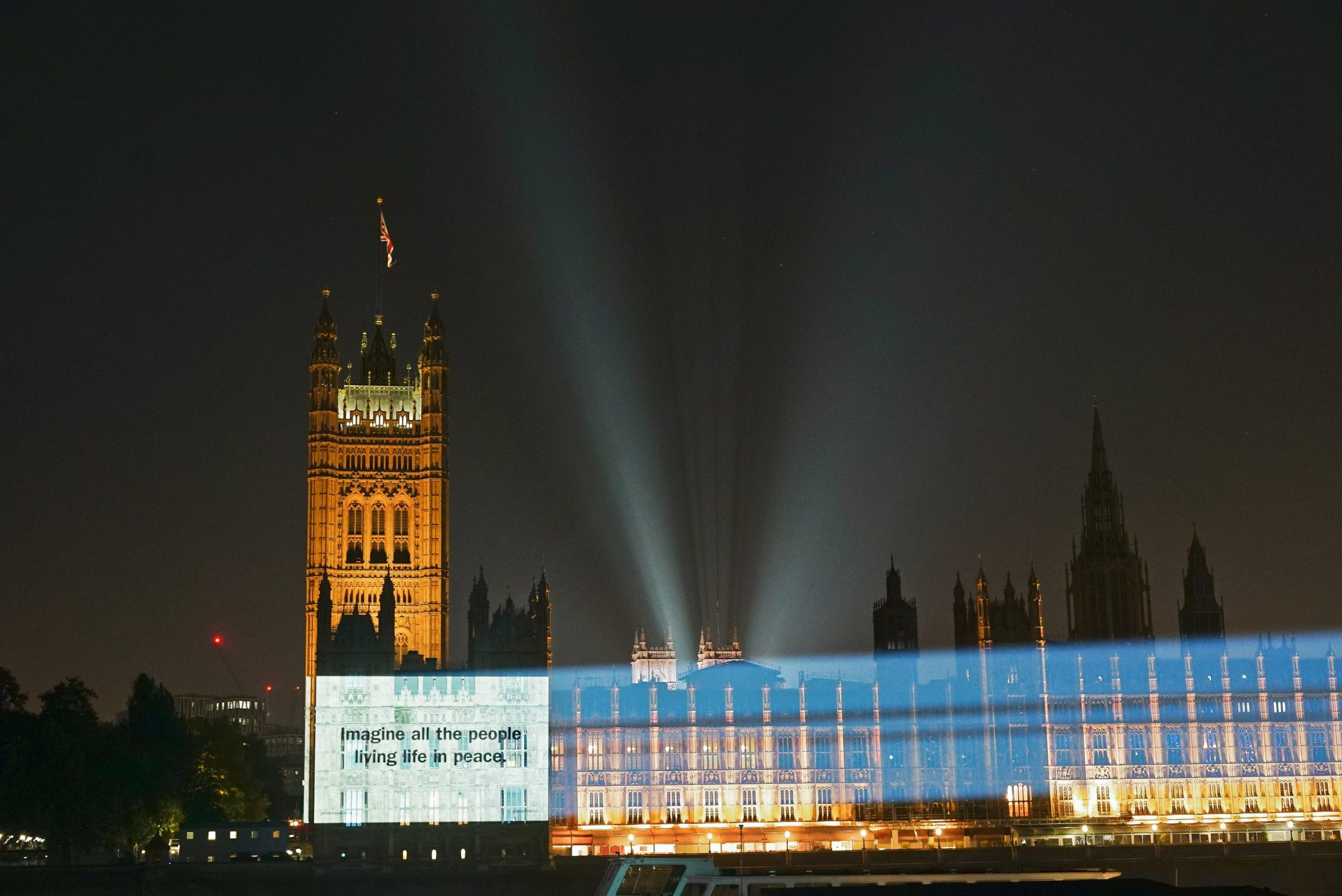 'Imagine' marks 50 years with lyric projected on landmarks