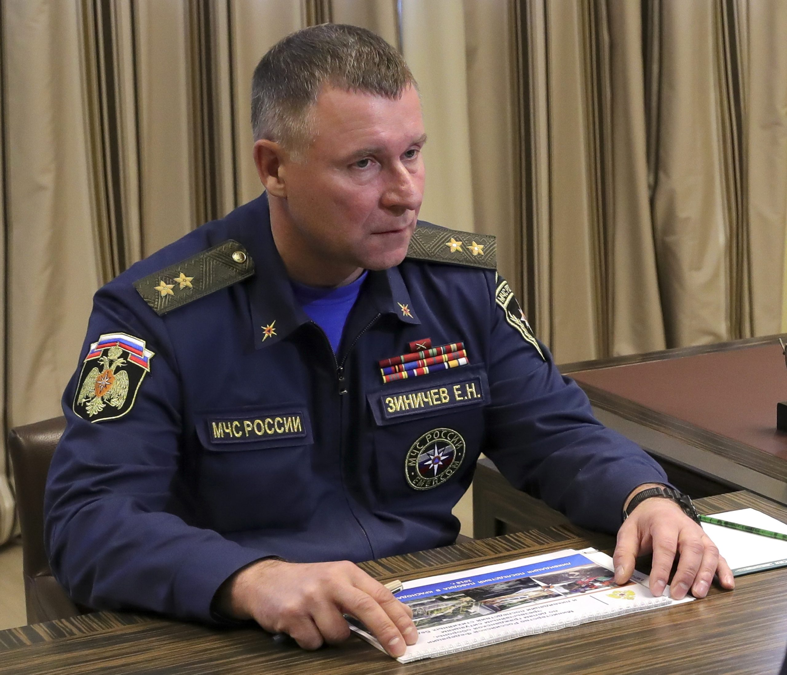 Russian Emergencies Minister Dies During Drills in North Russia