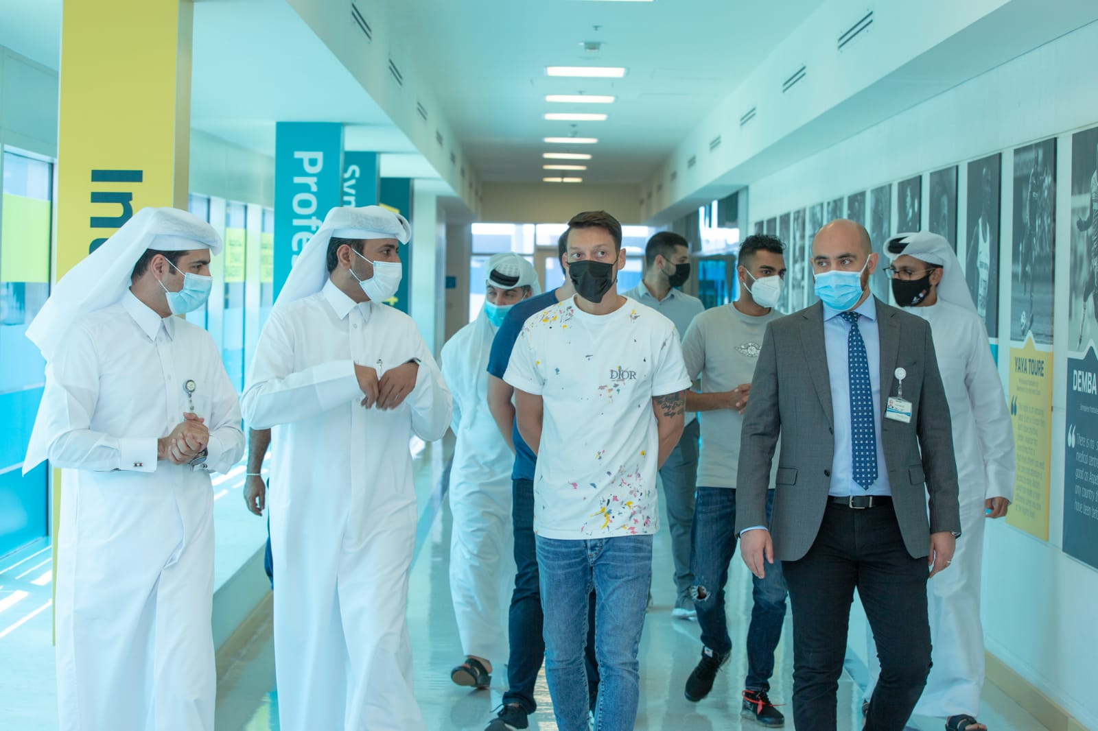 German Footballer Mesut Ozil Impressed by Aspetar Services and Facilities