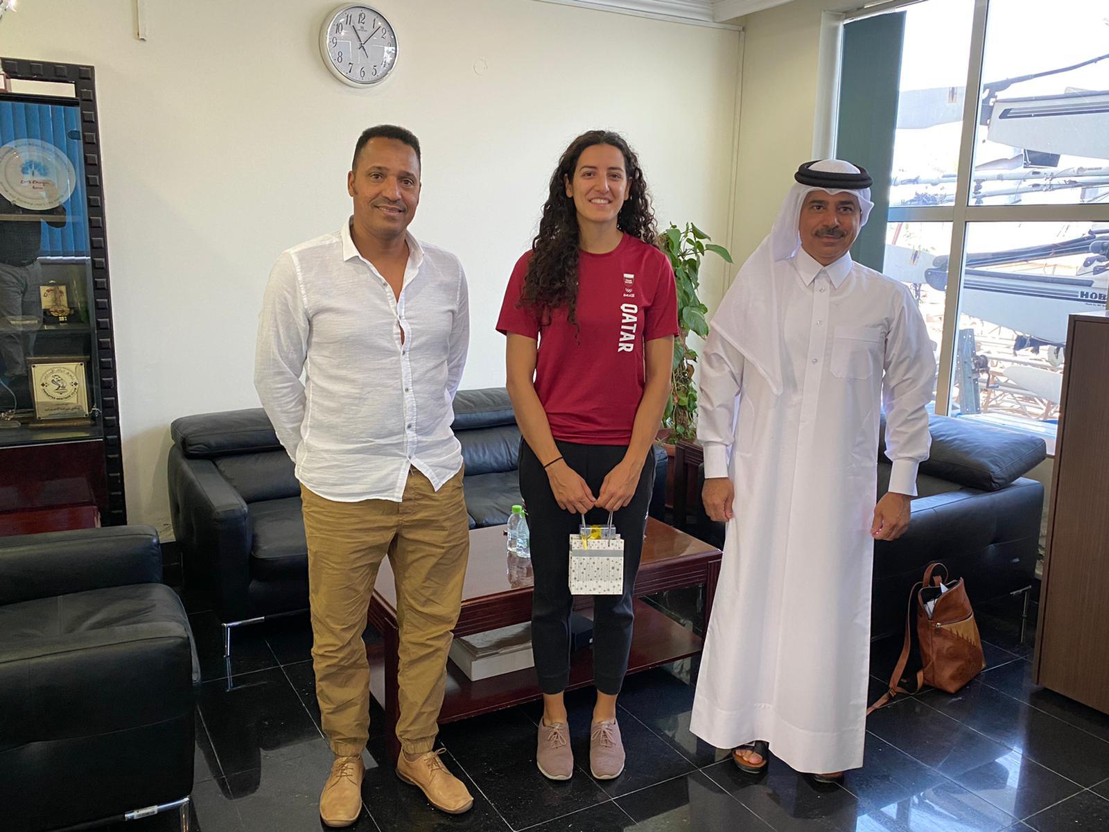 Qatar Sailing and Rowing Federation Honors Tala Abu Jbara