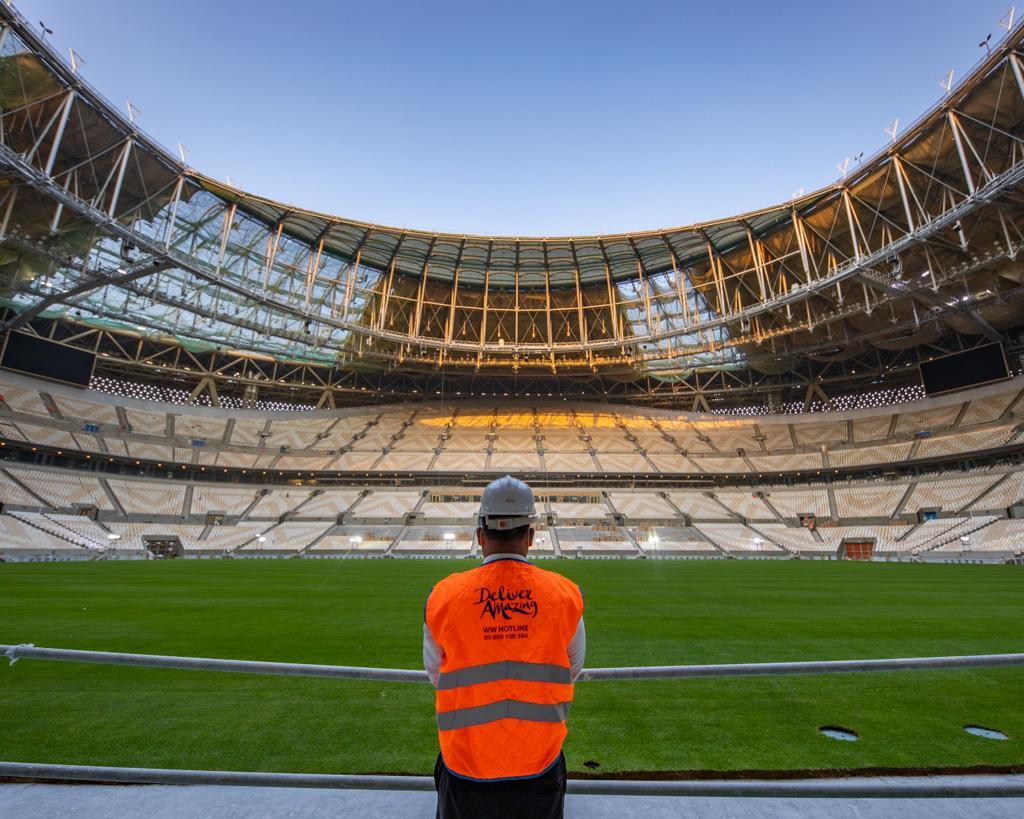 SC Completes Turf Laying at Lusail Stadium