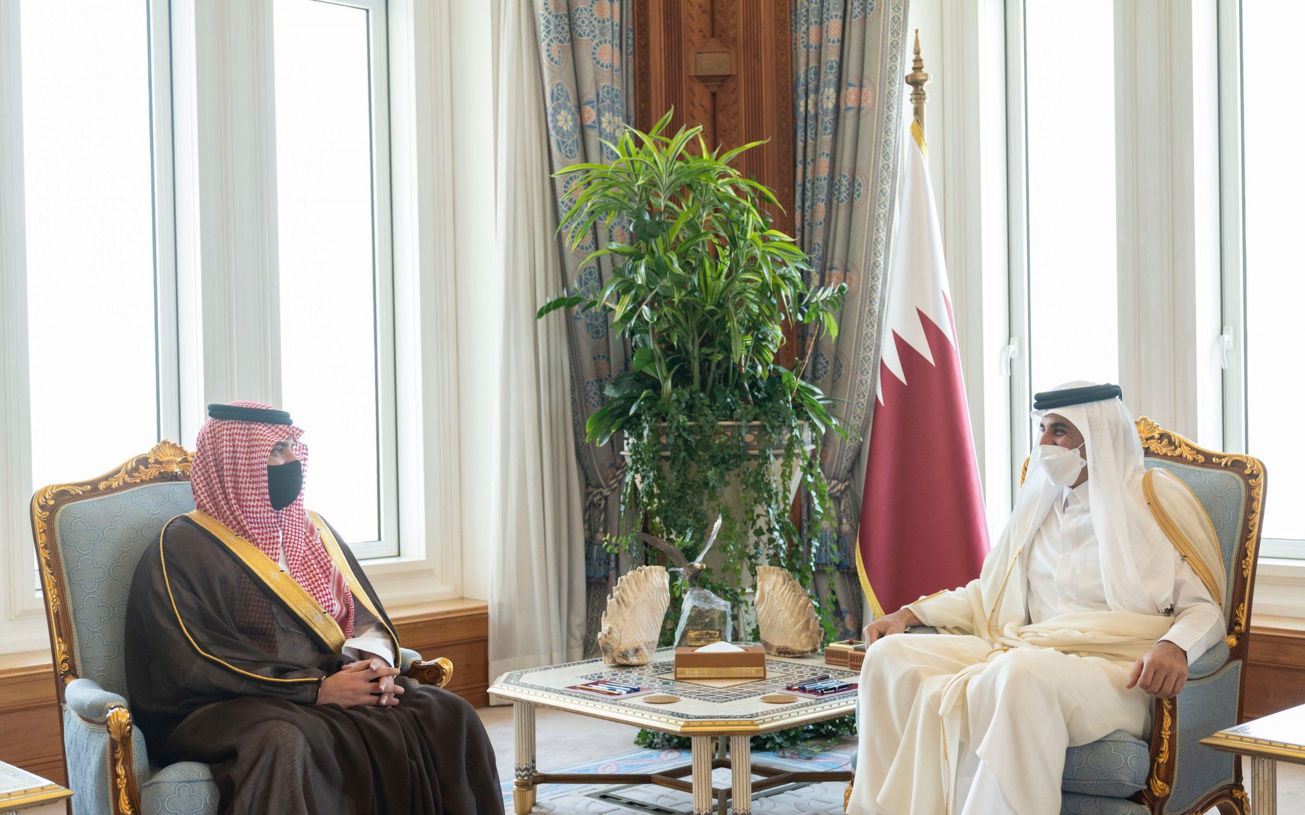 Amir meets Saudi Minister of Interior